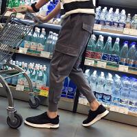 秋季男士休闲裤长裤嘻哈潮流街舞小脚束脚裤多口袋工装裤学生裤子