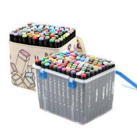 学生手绘60 80色礼盒装油性双头马克笔套装