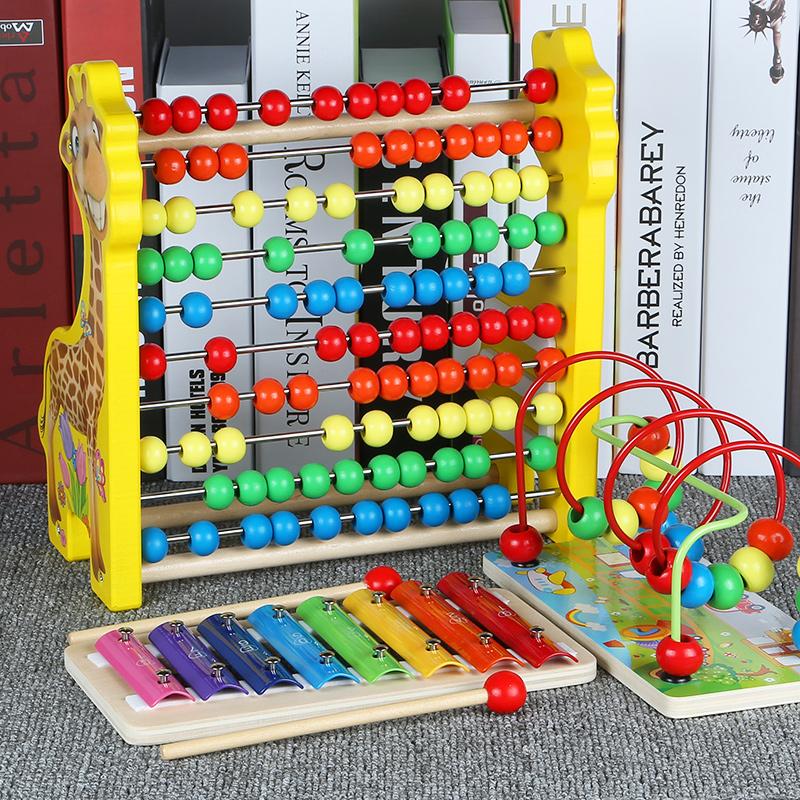 婴儿童绕珠串珠玩具12个月1-2-3岁宝宝男女孩早教启蒙木质