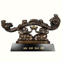 铜家居摆件如意大象乔迁结婚礼品如意对象铜工艺品