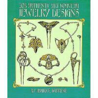 【预订】305 Authentic Art Nouveau Jewelry Designs 305