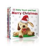 DK触摸书 英文原版 Baby Touch and Feel Merry Christmas 儿童早教触摸纸板书 英语