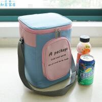 韩式圆形饭盒袋大号便当保温桶袋子水加厚铝箔保温袋手提带饭包生活日用创意家居新品