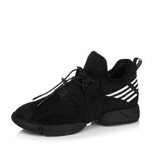 BASTO/百思图专柜同款/白TPU/弹力布/织带女单鞋16C65CM6