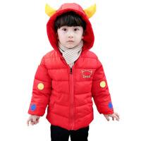 宝宝冬装男童童装婴幼儿加厚连帽棉衣羽绒棉袄1-3-5周岁年货童装