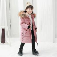 女童棉衣2018新款金丝绒中长款儿童羽绒加厚保暖棉袄冬装外套
