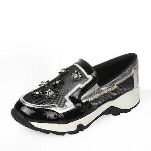 【鞋靴超级品类日】BASTO/百思图春季专柜同款布女休闲鞋TV220AM6女乐福鞋