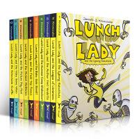英文原版 Lunch Lady系列10册合售 全彩漫画章节桥梁书AUTHOR VISIT中小学生英语课外阅读幽默冒险故