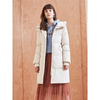 欧货羽绒服女中长拉夏贝尔冬季新款韩版宽松过膝白鸭绒外套