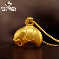 菜百首饰黄金吊坠故宫文化系列大象平安吉祥足金吊坠项坠 祈福