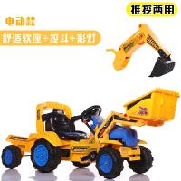 创意新款童车儿童电动玩具车可坐可骑挖土机2-3-6岁男孩大号挖掘机钩机工程车 +斗 质保两年,终身售后
