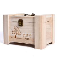 礼品盒 木制茶叶包装盒存钱罐茶叶通用包装礼盒储蓄箱普洱茶储存盒定制logo 如图