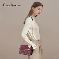 【1件3折,到手价:102.9元】Clous Krause CK包包女包2019新款单肩斜挎包淑女单肩链条斜挎包布艺配