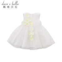 戴维贝拉夏装新款女童连衣裙 宝宝公主裙DB7049