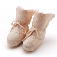 新生儿用品天然彩棉护鞋套 婴儿加厚脚套秋冬宝宝夹棉鞋