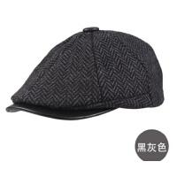 男士休闲潮男鸭舌帽户外帽帽子鸭舌帽  复古英伦贝雷帽