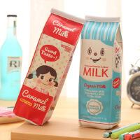 包邮 趣味仿真牛奶笔袋 韩版创意可爱笔袋 混发