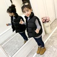 儿童马甲冬季加厚外穿2018新款秋冬款宝宝韩版男童女童羽绒棉外套 黑色