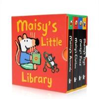 【全店300减100】进口英文原版 Maisy's Little Library 小鼠波波的小图书馆 Lucy Cous