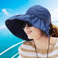 帽子女夏天新遮阳帽夏天女士潮防紫外线大沿沙滩太阳帽防晒可折叠凉帽