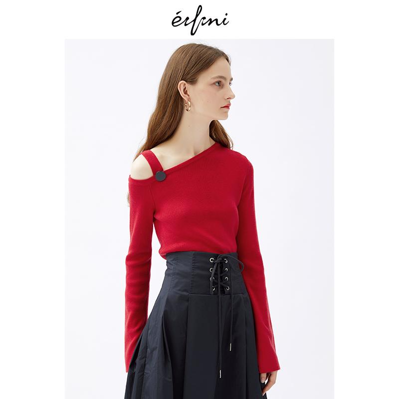 2件4折 伊芙丽2018冬装新款韩版时尚女装毛针织衫1187939362