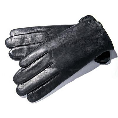 新款羊皮骑车真皮手套男冬季加厚保暖手套