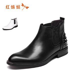 红蜻蜓男鞋休闲鞋秋冬鞋子男靴子男WTD6216