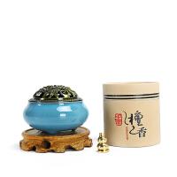 香炉陶瓷小号檀香盘香炉家用室内茶道供佛熏香香薰炉创意摆件