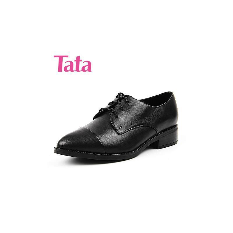 Tata/他她专柜同款小牛皮革女皮鞋2PK24CM6