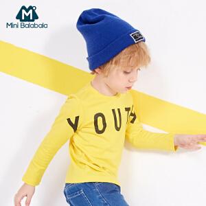 【尾品价:39】迷你巴拉巴拉男童长袖体恤儿童上衣2018春装新款打底衫幼童T恤潮