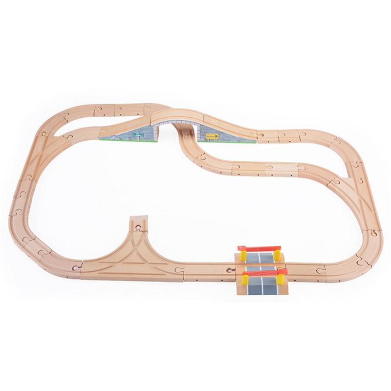 木制托马斯轨道车小火车公铁系列轨道组益智火车轨道玩具