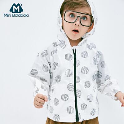 【满200减130】迷你巴拉巴拉男童纯棉外套2019夏新款童装轻薄透气儿童便服户外服