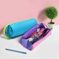 国誉KOKUYO C2-R笔袋笔盒二合一多功能帆布文具袋收纳包