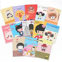 包邮韩国文具可爱卡通小本子批发学生儿童笔记本赠品小礼品20/50本装