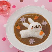 法克曼(Fackelmann) 宝宝饭团模具 卡通 DIY小工具 厨房兔子海豚模型4件套5563381