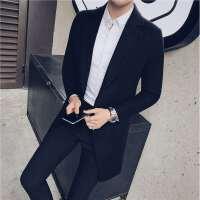 新款中长款呢大衣秋冬男士风衣青少年休闲妮子外套韩版修身男装潮