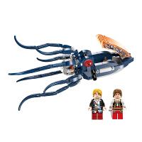 海盗船积木男孩拼装模型儿童智力玩具拼插机械乌贼3-8-12岁