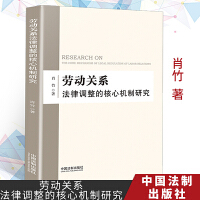 2019年正版现货图书 劳动关系法律调整的核心机制研究 肖竹著 中国法制出版社 9787521603453