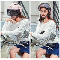 摩托车头盔男女电动车夏季半 盔防晒防紫外线轻便半覆式安全帽
