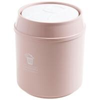 桌面迷你垃圾桶客厅带盖纸篓创意家用茶几垃圾盒小号垃圾筒