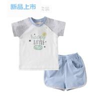 婴儿短袖套装夏季薄款宝宝儿童衣服新款纯棉短袖短裤男童夏季套装