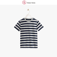 多色条纹短袖T恤男 Heilan Home/海澜优选生活馆