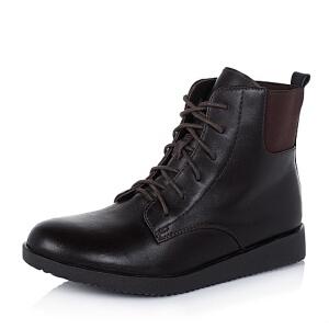 Teenmix/天美意专柜同款牛皮革女皮靴6US43DD5
