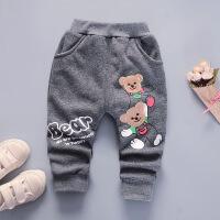 宝宝加绒长裤子2018新款棉裤冬装0-1-3岁儿童男童婴儿小童潮童裤
