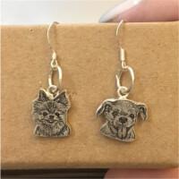 小猫小狗照片定制项链 纯银宠物吊坠手链 定做动物轮廓戒指锁骨链礼品