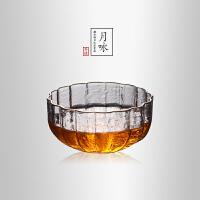 当当优品 描金花形锤目纹品茗杯 光阴系列 手工高硼硅玻璃茶杯 功夫茶具 85ml