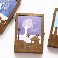 木盒装同学录小学生毕业女韩国创意唯美小清新初中生复古纪念册 款式随机 单本价格