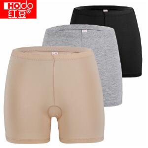 红豆内裤女士内裤莫代尔棉质防走光安全裤打底三角裤  3条装