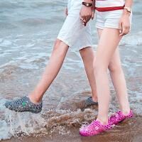 包头鸟巢凉鞋子透气防滑情侣防水鞋夏季拖鞋男士洞洞鞋韩版沙滩鞋