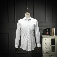 国内尾单剪标男装2018春装白衬衫男长袖工装免烫抗皱职业装白衬衣